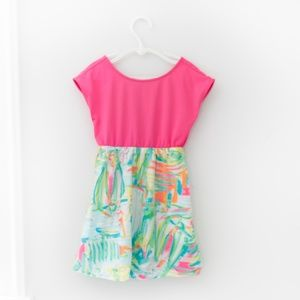 Lily Pulitzer Girls Caila Dress Pink Size S 4-5